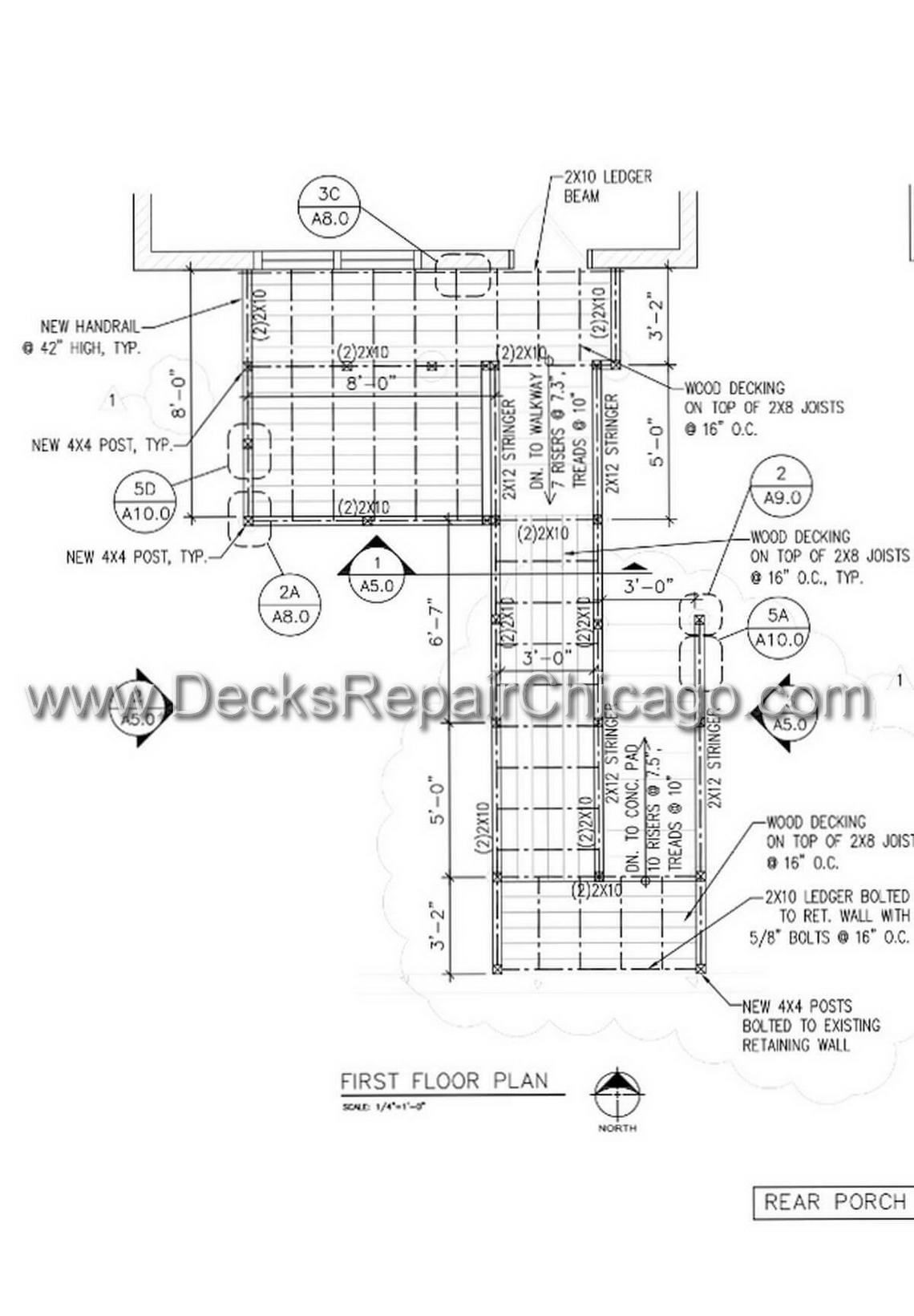 Decks Repair Chicago - Wood Metal Decks Custom Designs Chicago